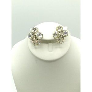 Jewelry - Vintage Clear Crystal Rivoli Bouquet Earrings